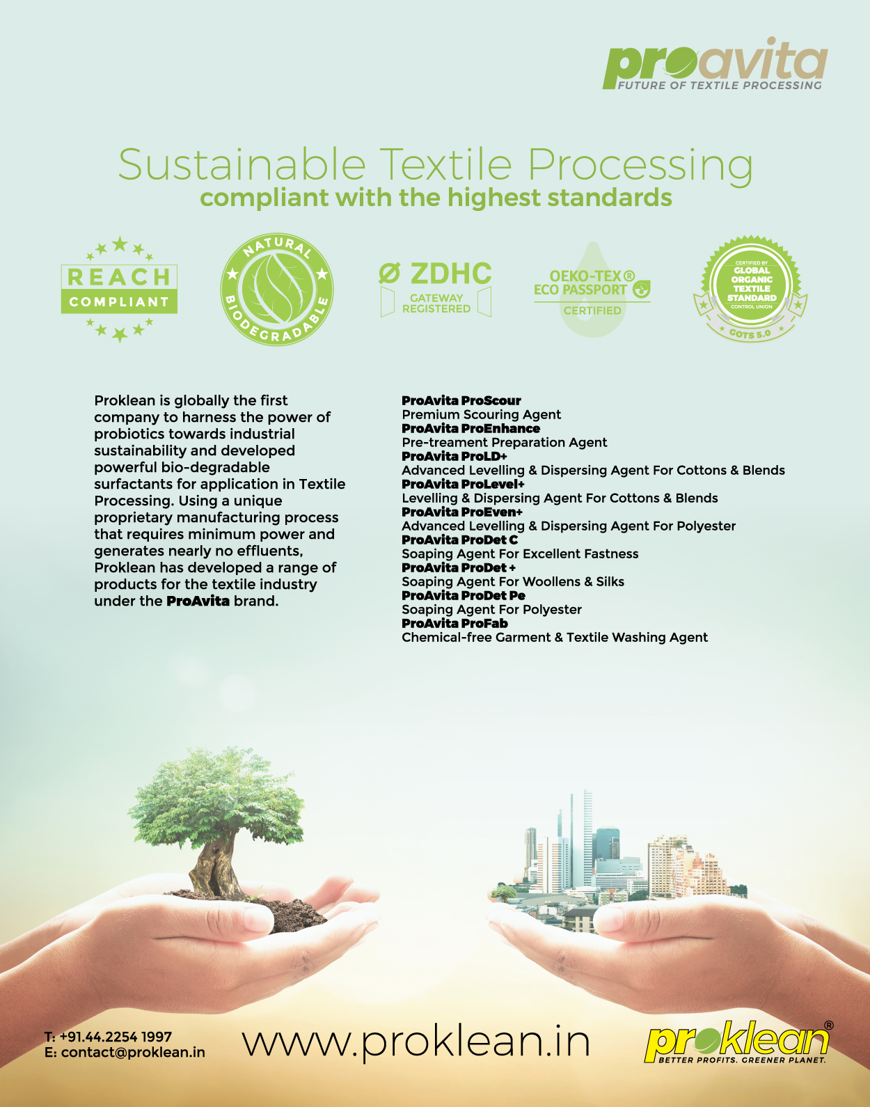 Home - Textile Processing   Hospitality & Waste Management